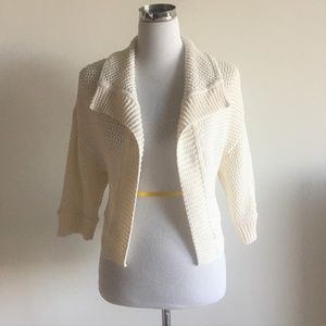 St John Wool Blend Sweater Open Front Cardigan S